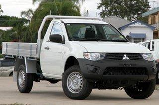 Discounted Demonstrator, Demo, Near New Mitsubishi Triton GL, Nundah, 2013 Mitsubishi Triton GL MN MY14 Cab Chassis