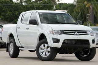 Discounted Demonstrator, Demo, Near New Mitsubishi Triton GLX Double Cab, Nundah, 2013 Mitsubishi Triton GLX Double Cab MN MY14 Dual Cab Utility