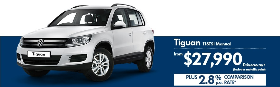 KINGHORN VOLKSWAGEN TIGUAN DRIVEAWAY AND FINANCE