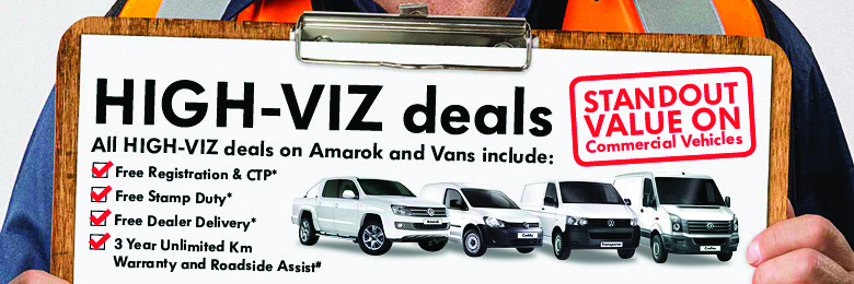 HIGH-VIZ Deals On Amarok and Vans