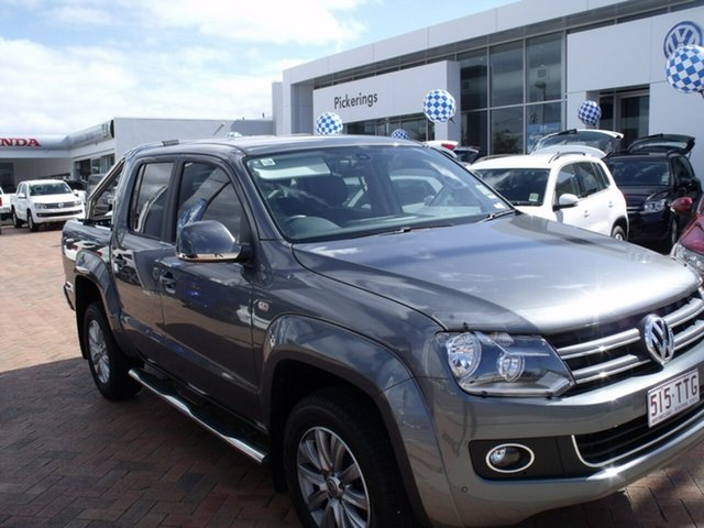 Discounted Demonstrator, Demo, Near New Volkswagen Amarok TDI420 4Motion Perm Highline, Townsville, 2013 Volkswagen Amarok TDI420 4Motion Perm Highline 2H MY13 Dual Cab Utility