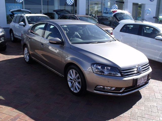 Discounted Demonstrator, Demo, Near New Volkswagen Passat 130TDI DSG Highline, Townsville, 2013 Volkswagen Passat 130TDI DSG Highline Type 3C MY13.5 Sedan