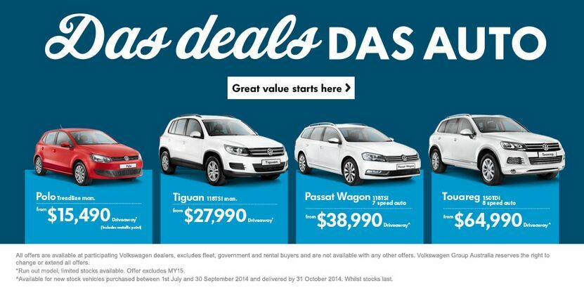 Das Auto Deals at Kinghorn Volkswagen