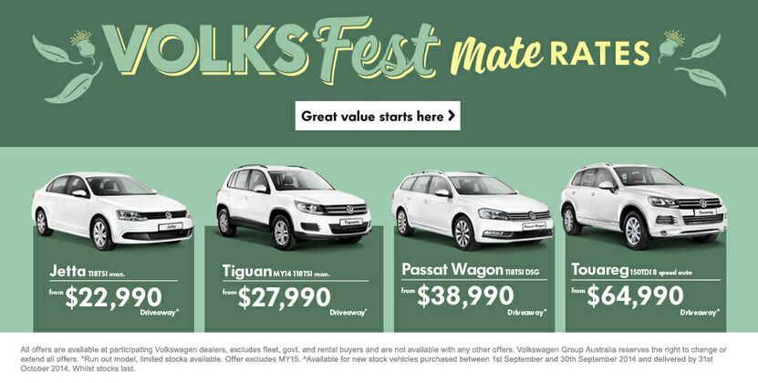 Mates Rates at Kinghorn Volkswagen