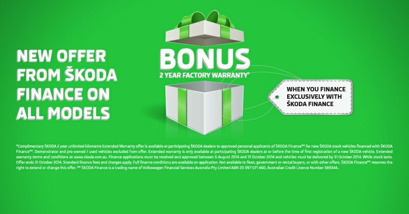 2 YEAR BONUS WARRANTY AT KINGHORN SKODA