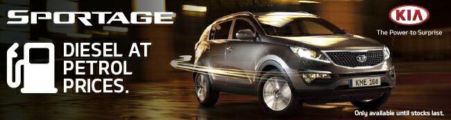 Kia Sportage - diesel at petrol prices.