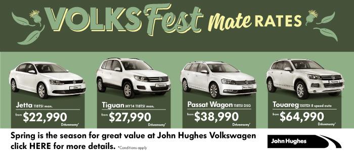 Get Mates Rates at John Hughes Volkswagen