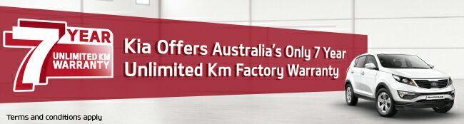 Pickerings Kia 7 Year Unlimited Warranty