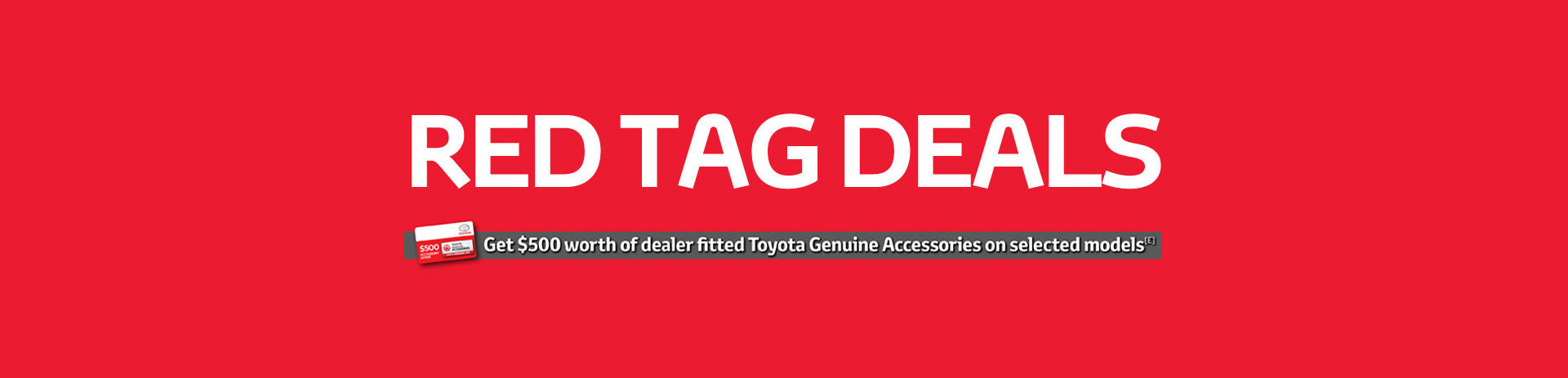 Red Tag Deals