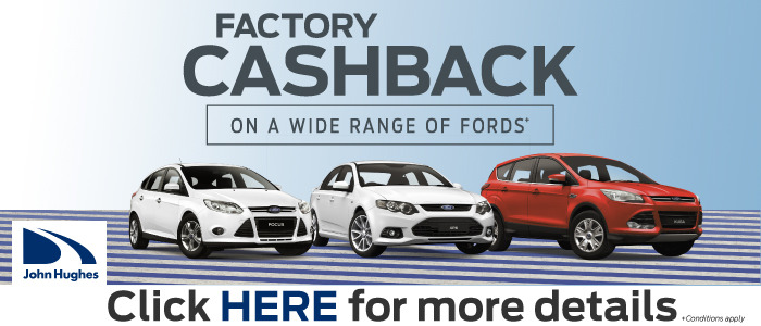 Factory Cashback on a Wide Range of Fords