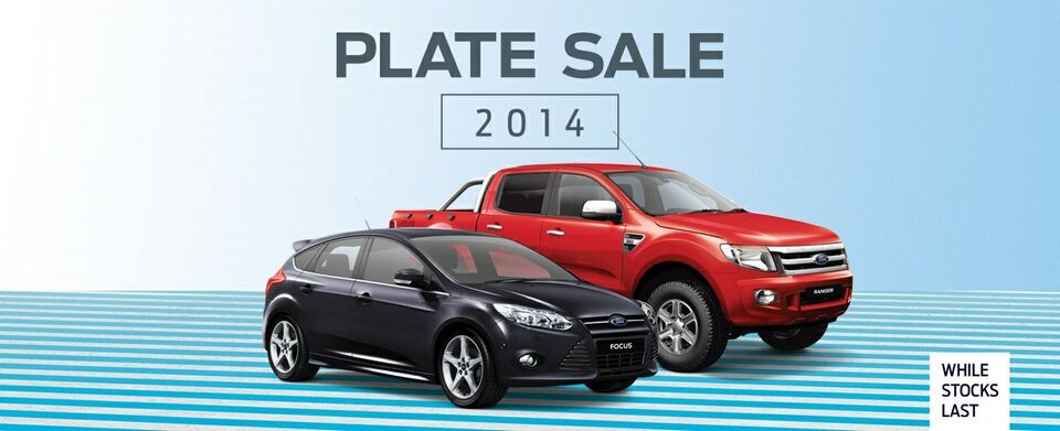 KINGHORN FORD 2014 PLATE SALE