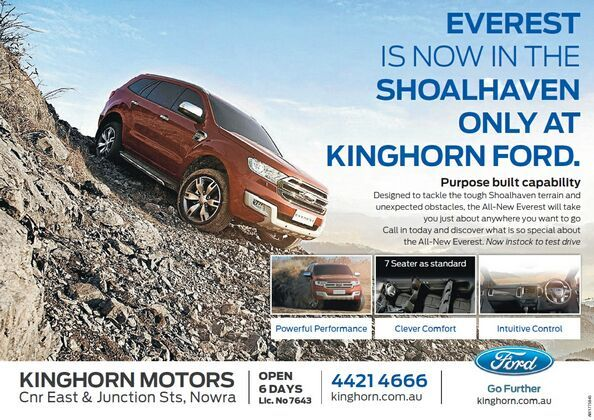 FORD EVEREST IS AT KINGHORN FORD
