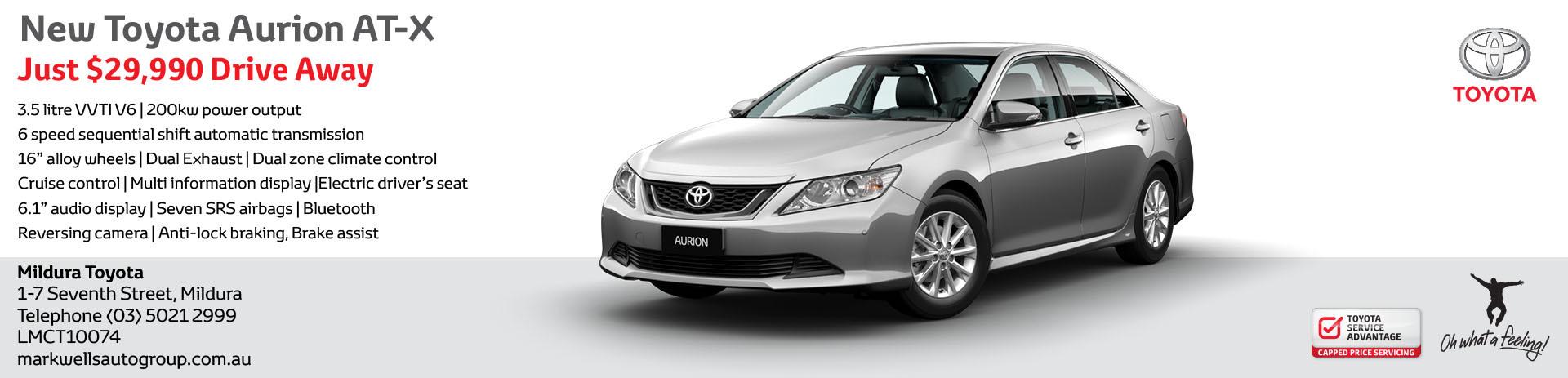 New Aurion | Mildura Toyota