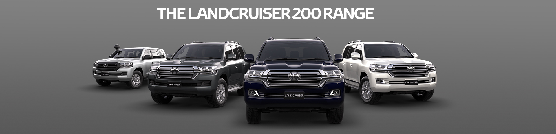 Check out the Landcruiser 200 Range!