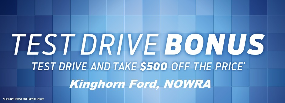 TEST DRIVE AT KINGHORN FORD