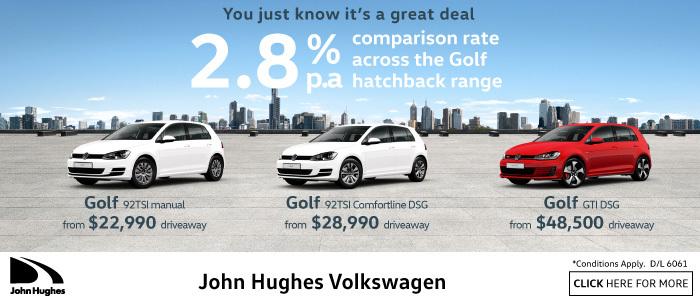 VW 2.8% HatchBack Deal