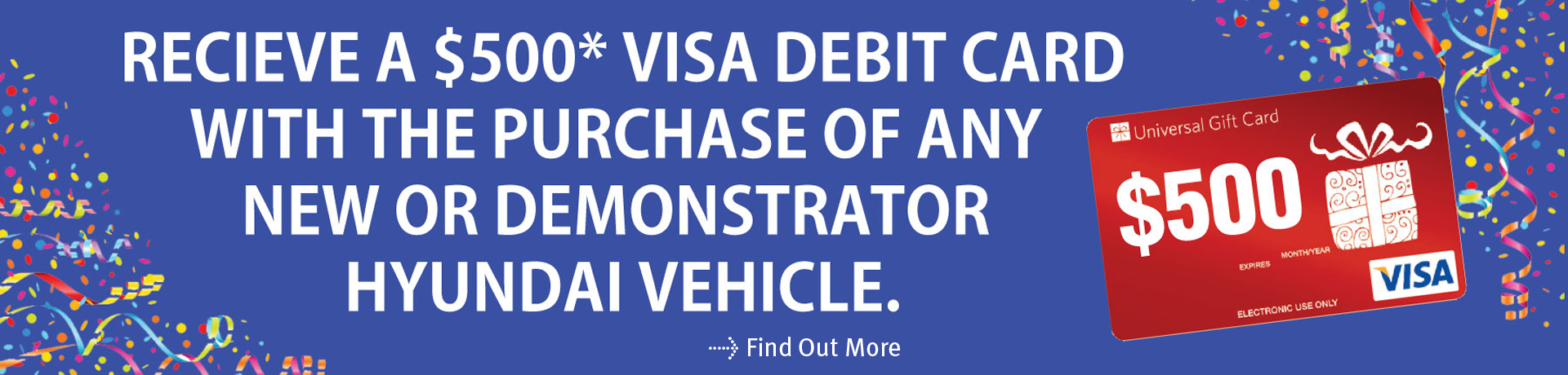 Hyundai Visa Debit Offer