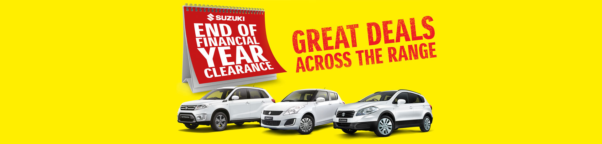 Suzuki - End of Financial Year Clearance - Great Deals Across the Range