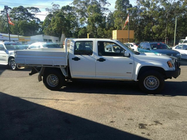 Used Holden Colorado LX , 2008 Holden Colorado LX  diesel 4x4 Tray back White 5 Speed Manual Dual Cab