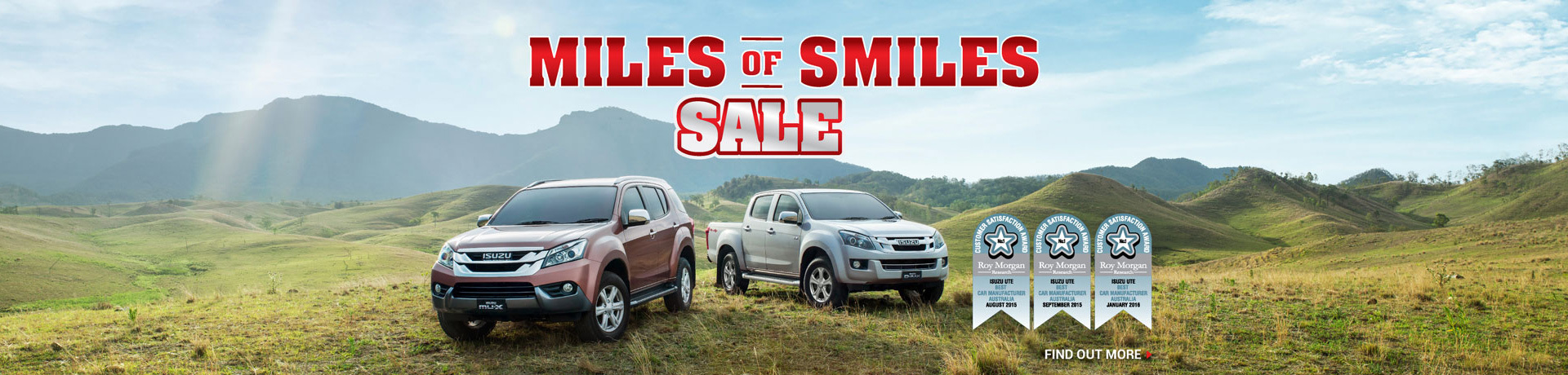 Isuzu National Offer - Miles of Smiles Sale