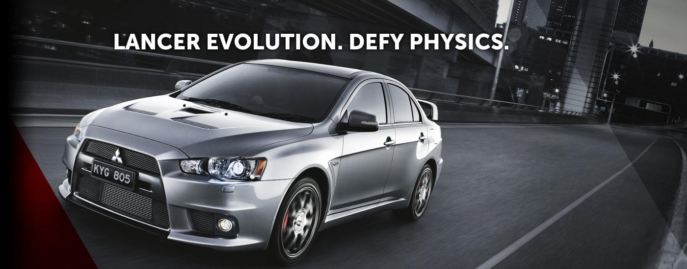 Lancer Evolution. Defy Physics.