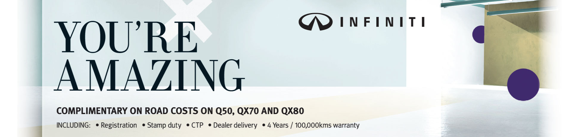 Infiniti Complimentary On-Roads Offer