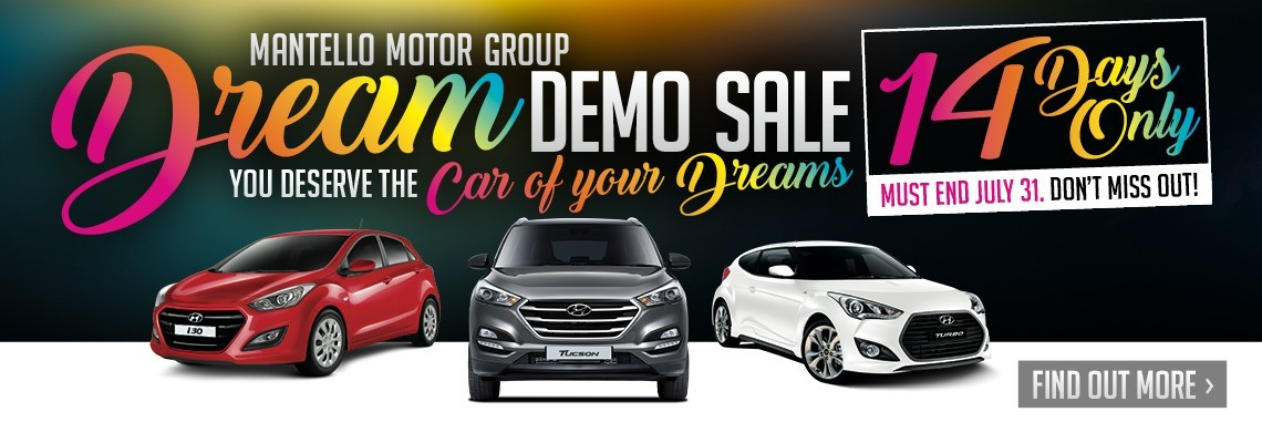 Mantello Hyundai - Demo Clearance - Prices you can't beat!