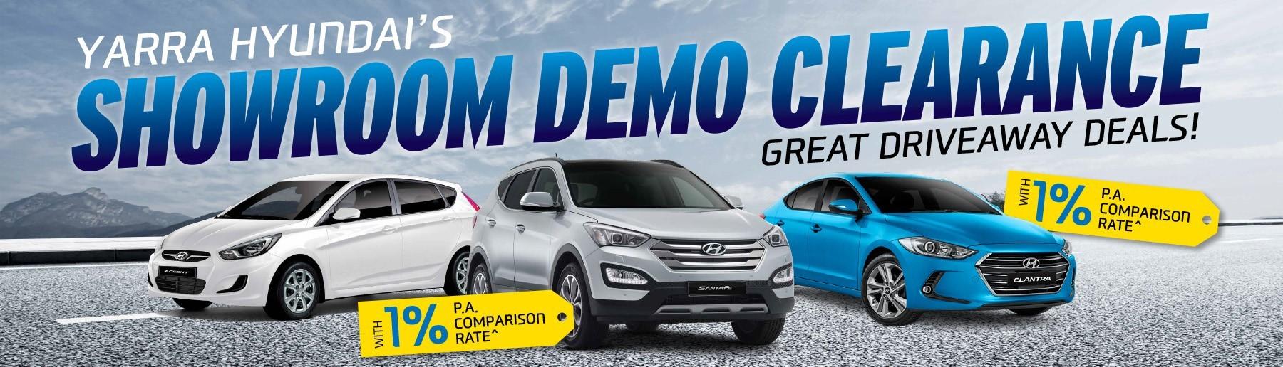 Showroom Demo Clearance at Yarra Hyundai