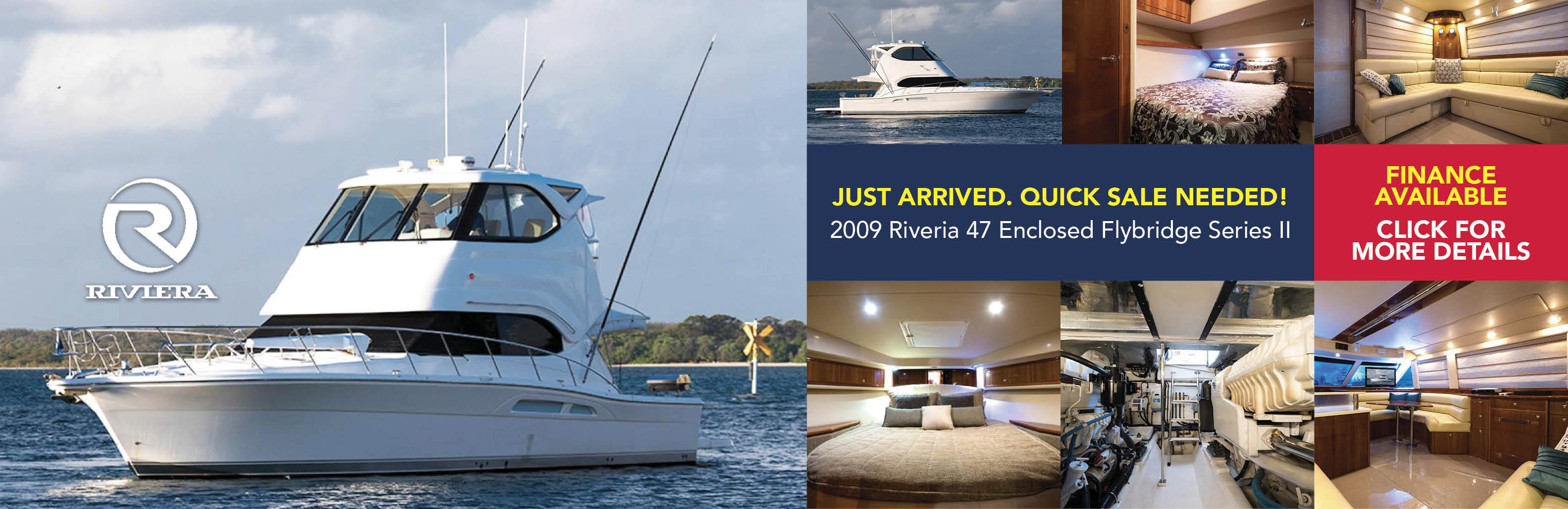 2009 Riviera 47 Enclosed Flybridge Series II - Click for More