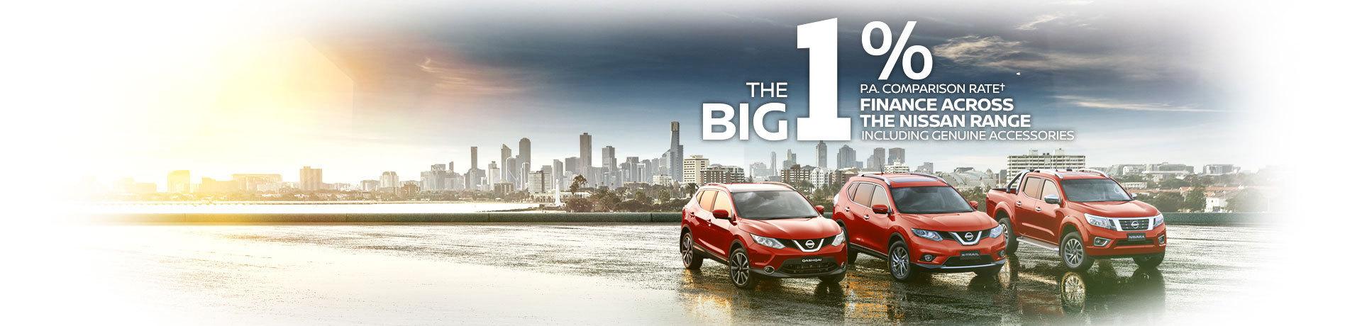 The Big 1% Comparisson Rate Finance Across The Nissan Range