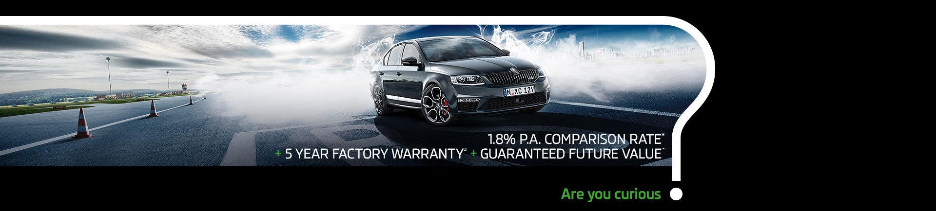 Skoda National Offer - 5 Year Factory Warranty