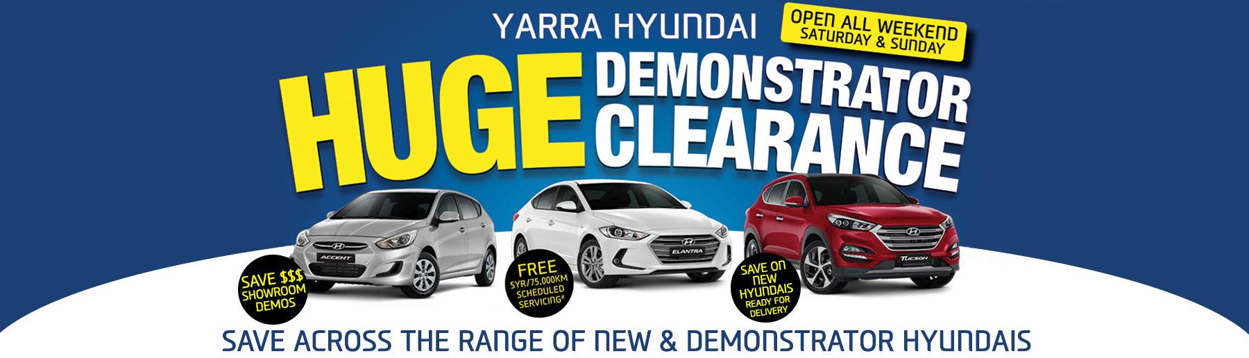 Yarra Hyundai Demo Clearance
