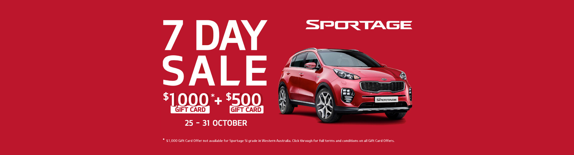 Kia National Offer - 7 Day Sale