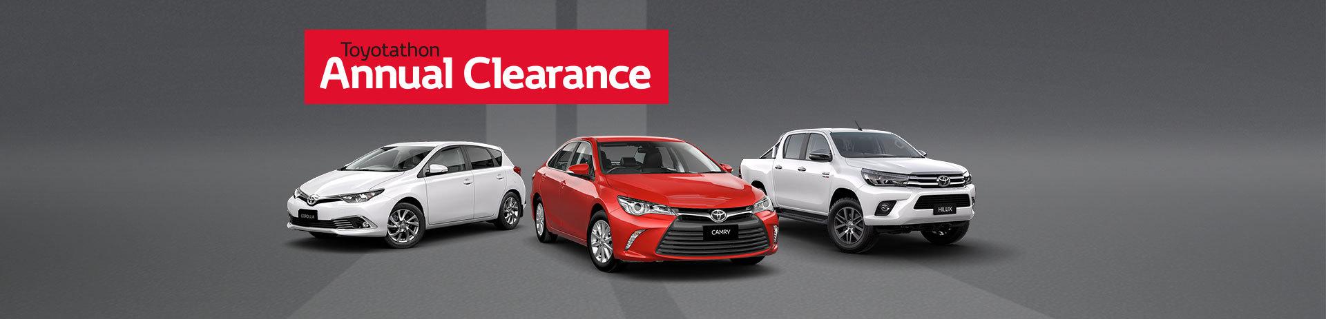 Toyotathon Annual Clearance
