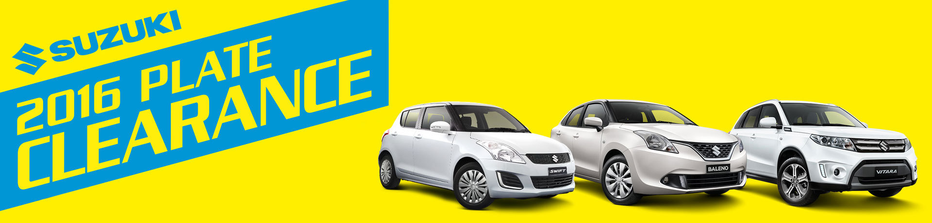 Suzuki National Offer - Plate Clearance