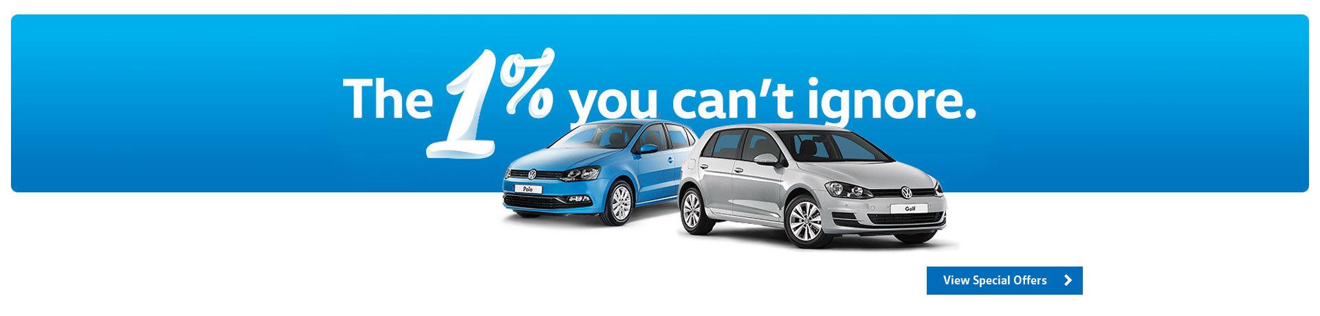 Volkswagen - 1% Finance Offer on Golfs