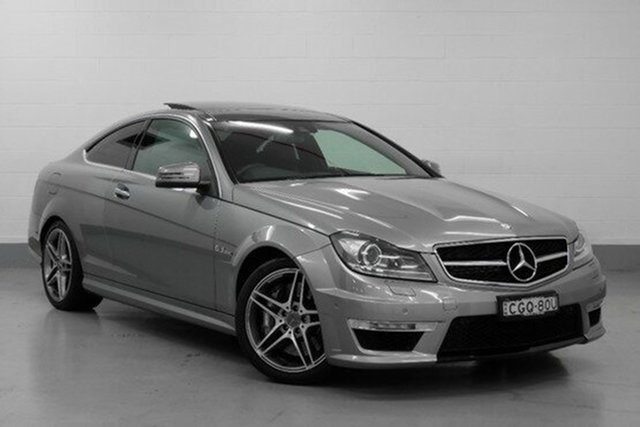 Demonstrator, Demo, Near New Mercedes-Benz C63 AMG SPEEDSHIFT MCT, Chatswood, 2011 Mercedes-Benz C63 AMG SPEEDSHIFT MCT Coupe