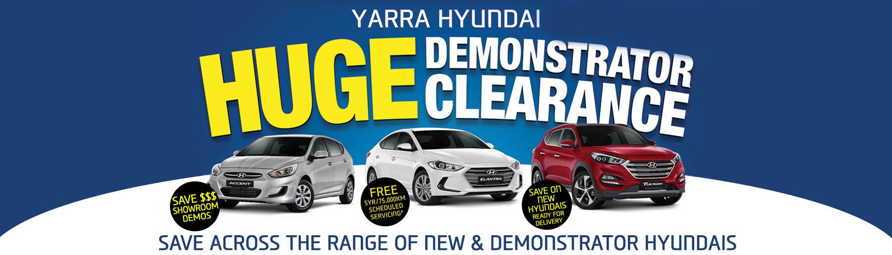 Yarra Hyundai Huge Demo Clearance