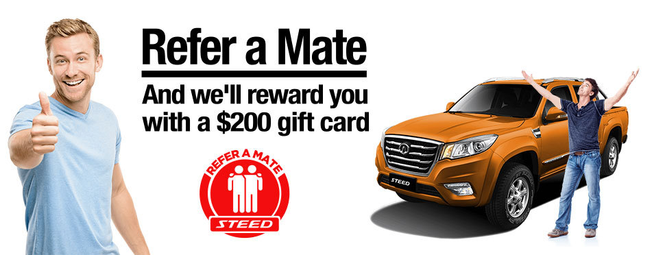 Refer a mate & we'll reward you with a $200 gift card