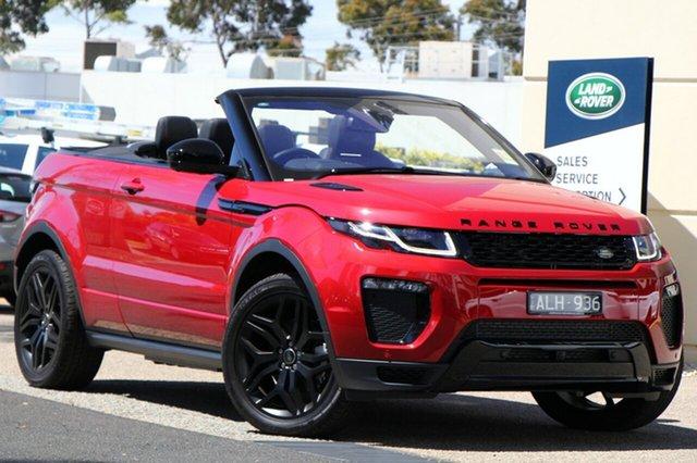 Demonstrator, Demo, Near New Land Rover Range Rover Evoque SI4 HSE Dynamic, Port Melbourne, 2016 Land Rover Range Rover Evoque SI4 HSE Dynamic Convertible