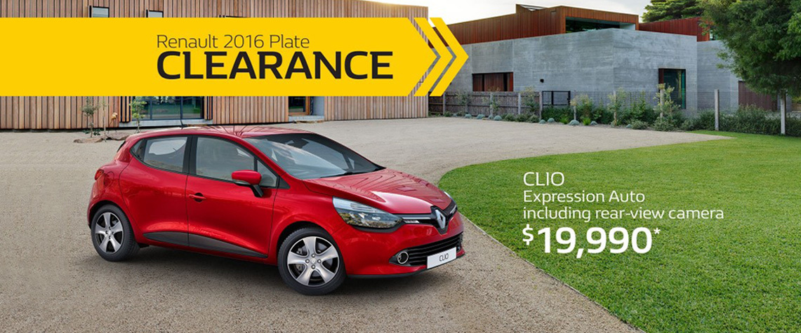 Renault - National Offer - 2016 Plate Clearance