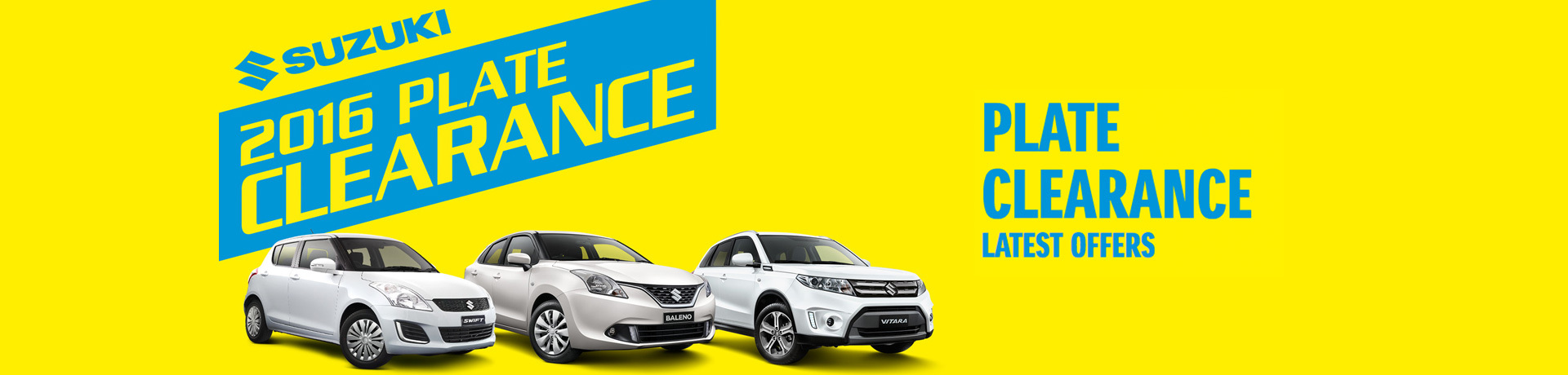 Suzuki - National Offer - 2016 Plate Clearance