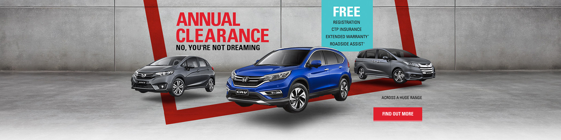Honday - National Offer - Annual Clearance. No you're not dreaming