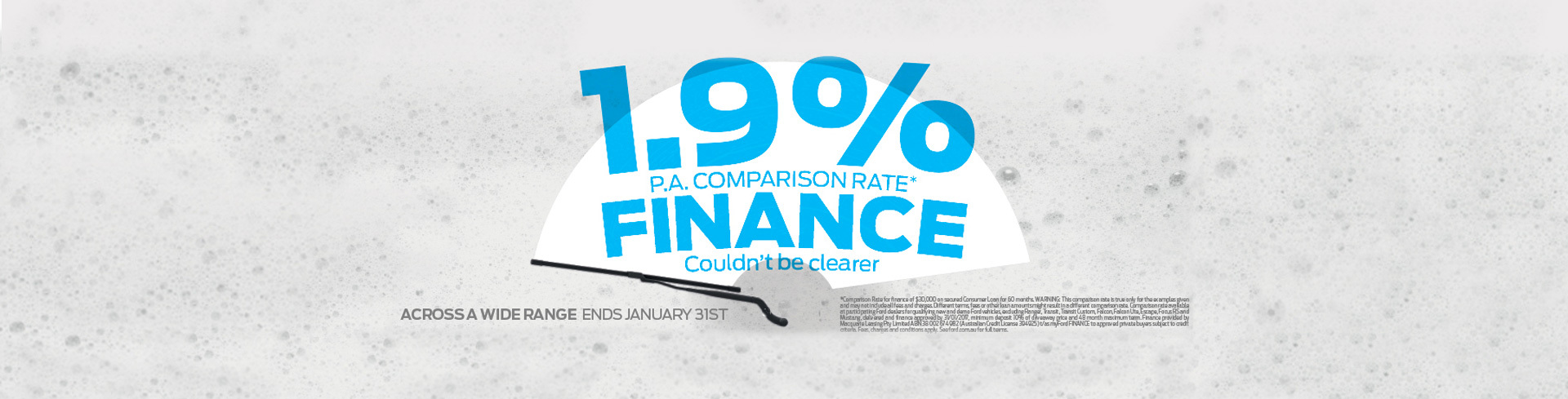 Ford National Offer - 1.9% P.A. Comparison Rate Finance