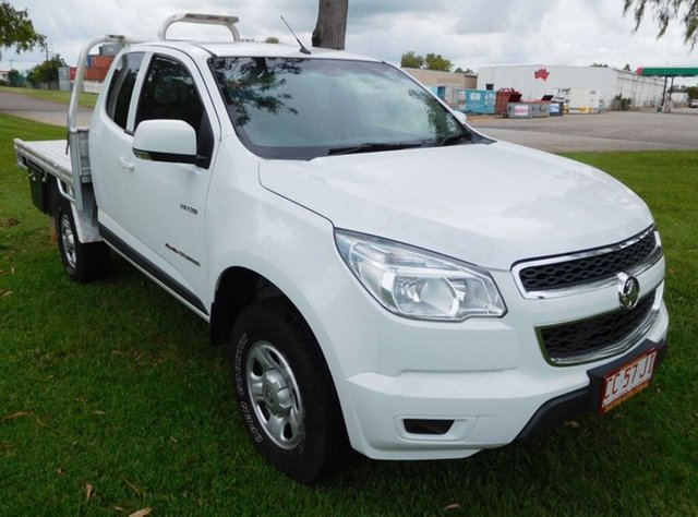 Used Holden Colorado RG MY13 LX Space Cab, 2013 Holden Colorado RG MY13 LX Space Cab White 6 Speed Sports Automatic Cab Chassis