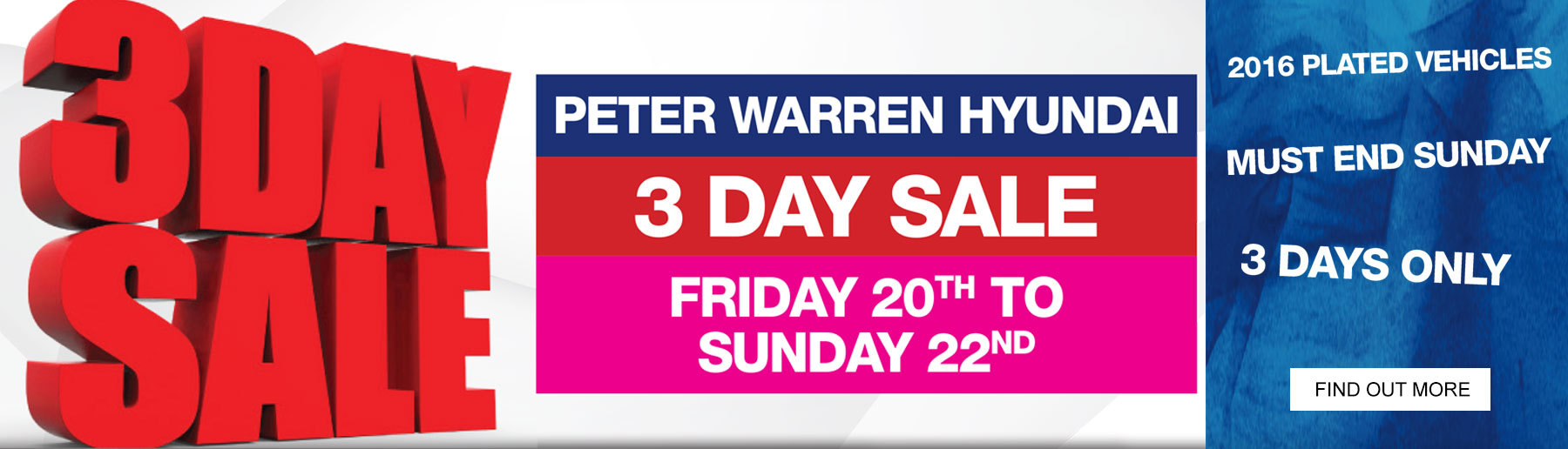 Peter Warren Hyundai 3 Day Sale