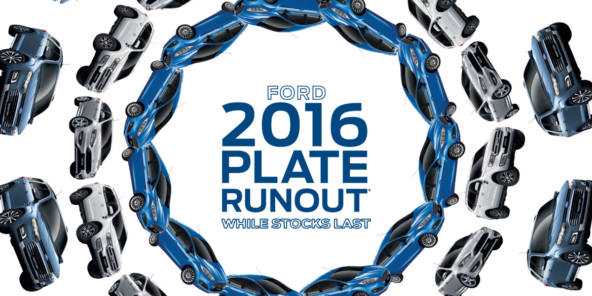Ford National Offer - 2016 Plate Runout