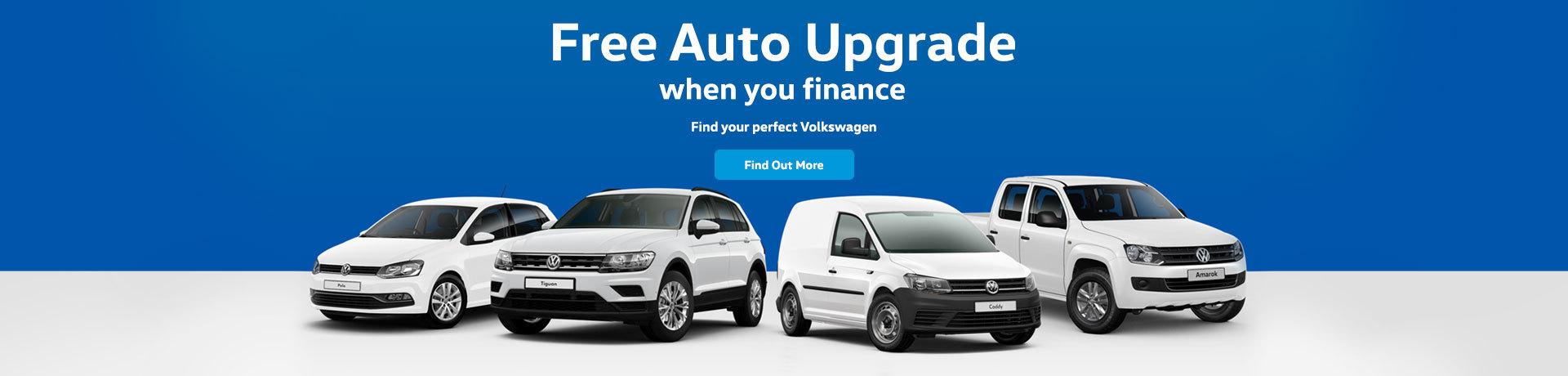 Volkswagen - Free Auto upgrade when you finance