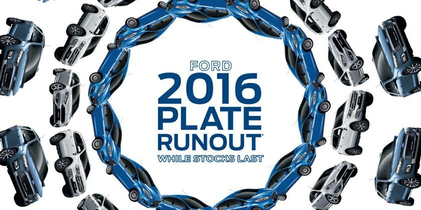 2016 plate runout at Kinghorn Ford