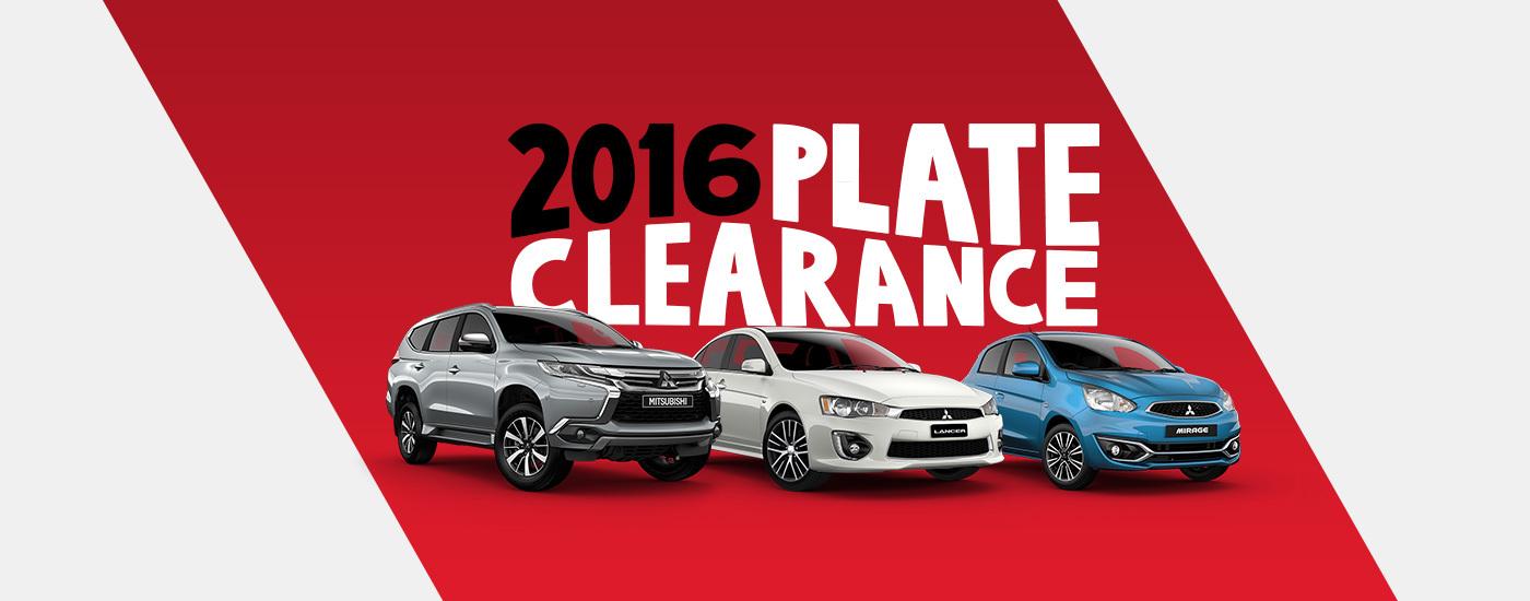 Mitsubishi 2016 Plate Clearance